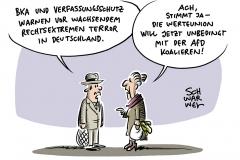 BKA und Verfassungsschutz warnen: Rechtsextremer Terror in Deutschland wächst – CDU und CSU: Werteunion spricht sich gegen Koalitionsverbot mit AfD aus