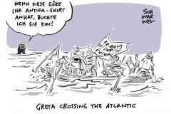 Protest gegen Klimawandel: Greta Thunberg segelt in die USA