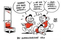 Neue SPD-Führung: Trio kandidiert nicht für Parteivorsitz