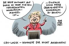 Hohe Mieten und Wohnungsknappheit: Merkel will bauen – SPD will Mieten deckeln