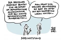 """Entscheidung des Stadtrats:  Dresden ruft """"Nazinotstand"""" aus"""