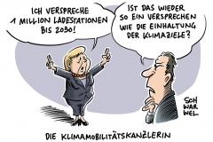 Vor Auto-Gipfel Werben für E-Mobilität:  Merkel verspricht eine Million Ladestationen