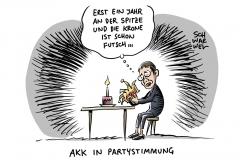 1 Jahr CDU-Vorsitzende: Kramp-Karrenbauer gibt Fehler im ersten Amtsjahr zu