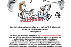 schwarwel karikatur cartoon buch die demokratie den demokraten