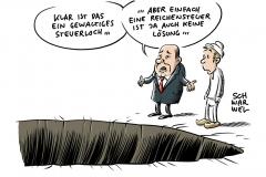 Aktuelle Steuerschätzung zur schwächelnden Konjunktur: 124 Milliarden Euro weniger bis 2023