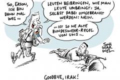 Spannungen in der Region:  Bundeswehr unterbricht Irak-Ausbildungseinsatz