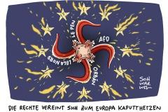 Rechte Parteien zur EU-Wahl: Europas vereinte Feinde