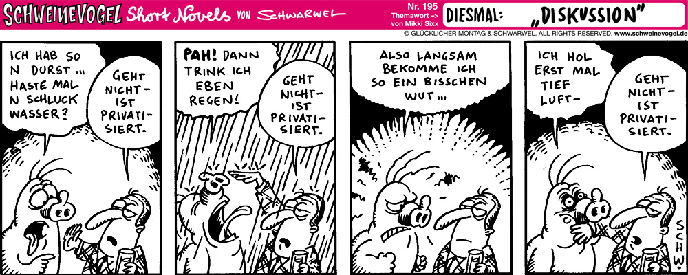 Schweinevogel Comic Schwarwel