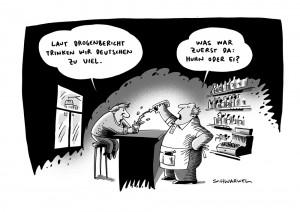 Drogen Alkohol Karikatur Schwarwel