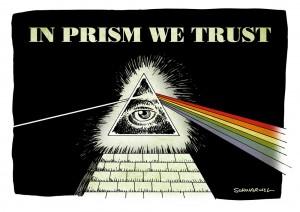 US-Überwachungsprogramm Prism offenbar mehr Staaten Zugriff auf Daten Karikatur Schwarwel