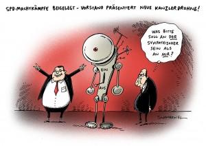 SPD Machtgerangel im Vorfeld der Kanzlerwahl Karikatur Schwarwel