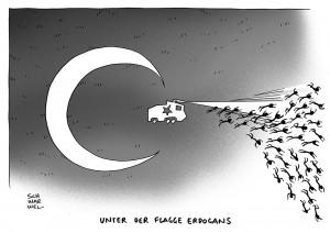 Türkei: Erdogan lässt Gezi-Park gewaltsam räumen karikatur schwarwel