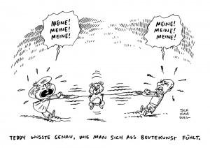 Rede Beutekunst Absage eklat Russland Merkel Karikatur schwarwel