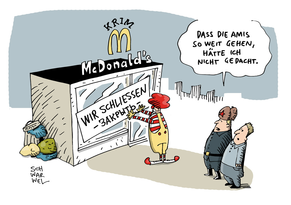 russland schliesst mcdonalds