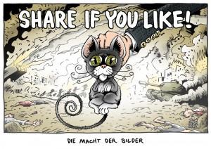 Kriegsberichterstattung - Karikatur Schwarwel
