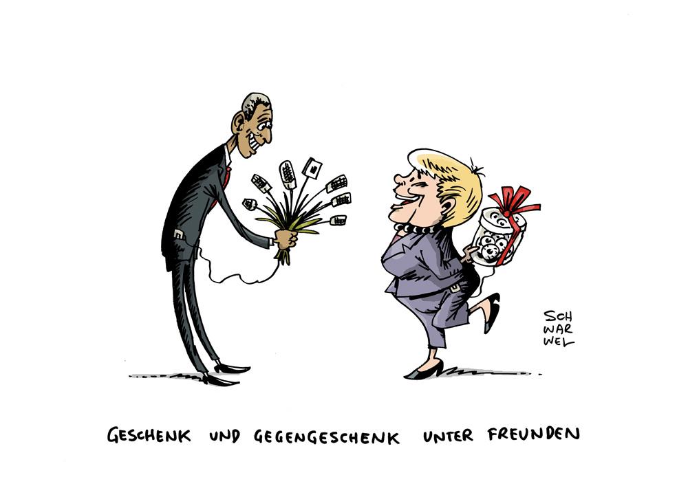 Ausstellung Schwarwel Zu Besuch Bei Freunden Karikaturen