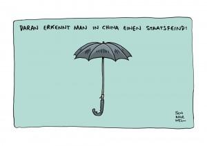 Hongkong: Regenschirm-Revolution gegen das Regime in Peking
