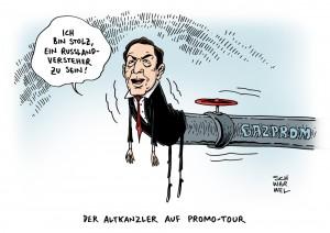 Russland-Tag in Meck-Pomm: Altkanzler Gerhard Schröder, stolzer Russland-Versteher