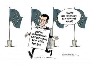 Griechenland: Tsipras-Regierung gegen Dogmen der EU - Karikatur Schwarwel