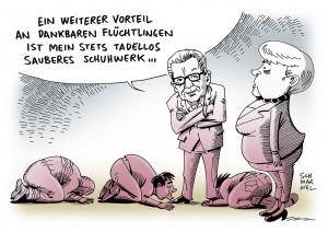 "Innenminister: Thomas de Maizière fordert ""Ankommenskultur"" der Flüchtlinge"