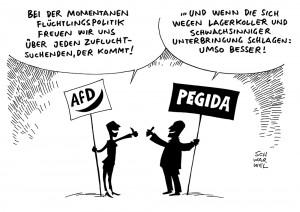 Angstdebatte in Flüchtlingspolitik: AfD und Pegida profitieren von öffentlicher Diskussion