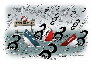Europäischer Gerichtshof: Safe-Harbor-Abkommen ist ungültig - Karikatur Schwarwel