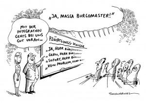 Integration: Flüchtlings-Knigge löst Kritik aus - Karikatur Schwarwel