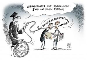 Neues Gesetz zur Vorratsdatenspeicherung: Gefahr für Whistleblower und Journalisten