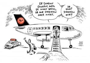 """Tarifstreit bei Lufthansa: """"Streiks wahrscheinlich"""" – Flugbegleiter, Piloten und Verdi planen gemeinsamen Arbeitskampf"""