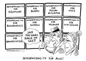 Flüchtlinge in Deutschland: CSU-Chef Seehofer will Integrations-TV zur deutschen Leitkultur