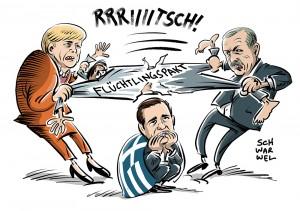 Wackliger Flüchtlingspakt mit Türkei: Griechenland bangt und schweigt