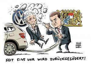 Konsequenzen aus Abgasaffäre: Bayern verklagt VW auf Schadenersatz