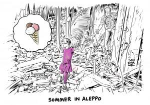 Krieg in Syrien: 300.000 Menschen in Aleppo eingeschlossen