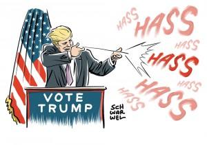 Trump provoziert bei US-Wahl mit Gewaltfantasien gegen Clinton; Auswärtiges Amt und Steinmeier warnen ausdrücklich vor Trump als Präsidenten