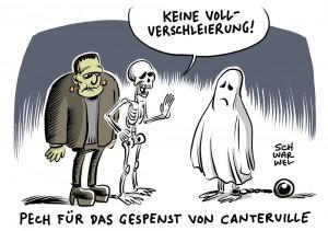 Treffen der CDU/CSU-Innenminister: Union will Burka-Verbot in ausgewählten Bereichen