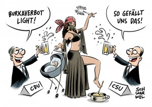 Vollverschleierung: CDU/CSU-Innenminister wollen Burka-Verbot light