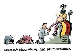 """""""Hohes Maß an Loyalität"""" – Kanzlerin will klares Bekenntnis: Angela Merkel nimmt Deutschtürken in die Pflicht"""