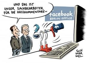 Kampf gegen Hasskommentare: Innenminister de Maizière besucht Berliner Facebook-Büro