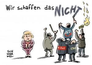 """""""Wir schaffen das."""": In einem Jahr vom Merkel-Slogan zum Anti-Merkel-Slogan"""