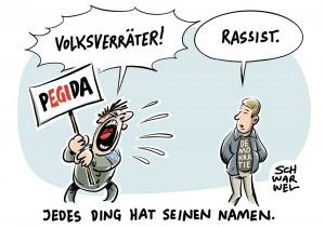 """AfD, PEGIDA und Rechtspopulisten: Anti-Flüchtlings-Demonstranten-Ruf """"Volksverräter"""" entlarvt undemokratisches Denken"""