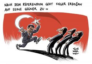 Nach erfolgreichem Türkei-Referendum: Merkel fordert, Erdogan müsse auf Gegner zugehen