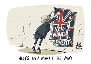 Uneinigkeit beim Brexit:  Theresa May setzt überraschend Neuwahlen an