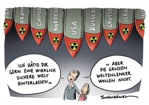 Atomkrieg wieder denkbar: Großteil der Atomwaffen befinden sich Händen von Männern, die bereit sind, sie zu benutzen