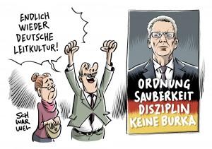 Stimmungsmache oder Einmaleins unseres Zusammenlebens: Innenminister de Maizière legt Zehn-Punkte-Katalog für deutsche Leitkultur vor