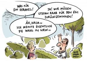 NRW-Wahl: Vom Schulz-Hype bleibt nur Erinnerung; Eurovision Song Contest: Deutschland mit Levina auf vorletztem Platz