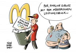 Vertragsabbruch: McDonalds steigt als Top-Sponsor bei Olympischen Spielen aus