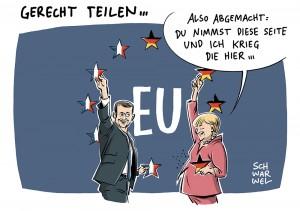 Nach Wahlsieg in Frankreich: Macron und Merkel wollen ihre Länder wieder zum Motor der EU machen