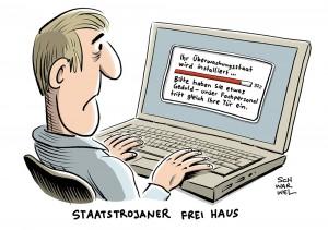 Umstrittene Staatstrojaner: Bundestag will weitreichendes Überwachungsgesetz beschließen