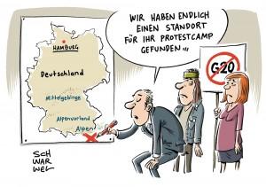 Vor G20-Gipfel in Hamburg: Oberverwaltungsgericht verbietet G20-Protestcamp
