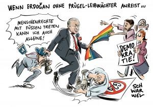 Bundesregierung zu G20-Gipfel: Erdogan kommt ohne Prügel-Leibwächter
